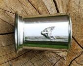 Julep Cup English Pewter Fox Head Emblem Gift