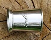 Mint Julep Cup English Pewter Greyhound Emblem Gift 165