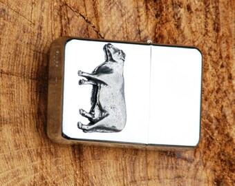 Dairy Cow Farming Gift Petrol Lighter FREE ENGRAVING