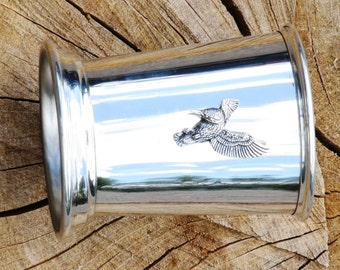 Kingfisher in Flight Stainless Steel Hip Flask Gift Boxed New Free Engraving 202