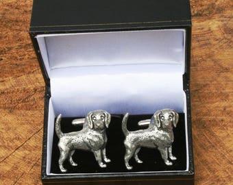 S0276 Beagle Cufflinks Pair Lifetime Guarantee Beagle Cufflink Dog Cufflinks Beagle Gift Dog Wedding Gift