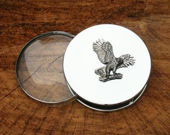 Atterrissage de Eagle conception Portable nickel plaqué loupe lecture verre  fauconnerie Bureau cadeau e10722e8dd2