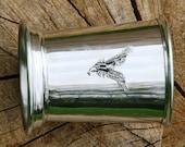 Julep Cup English Pewter Osprey Emblem Falconry Gift 251