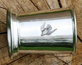 Julep Cup English Pewter Stooping Falcon Emblem Falconry Gift 354