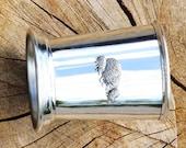 Julep Cup English Pewter Hedgehog Family Emblem Wildlife Gift 175