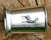 Julep Cup English Pewter Standing Stag Emblem Hunting Gift 348