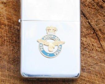 CUT OUT BADGE HIP FLASK ROYAL AIR FORCE RAF