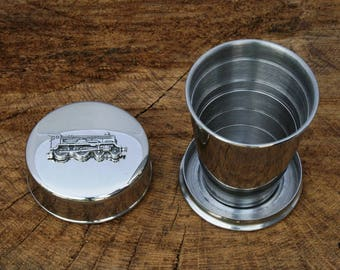 Lancaster Bomber Collapsible Cup Folding Shot Cup Vintage Plane Gift