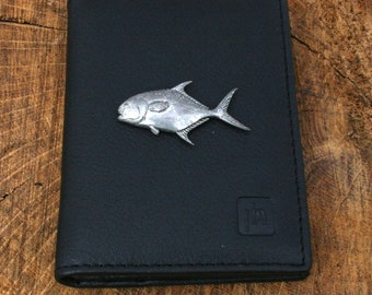 Permit Fish Real Leather Passport Holder Fishing Gift 267