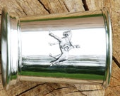 Mint Julep Cup English Pewter Horse Dressage Emblem Gift 182