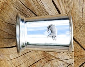 Julep Cup English Pewter Leopard Emblem African Animal Gift 218