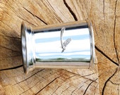 Julep Cup English Pewter Mayfly Emblem Insect Wildlife Gift 237