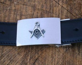 KNIGHTS TEMPLAR SHRINER FRATERNAL FREEMASON MASONIC LEATHER BELT /& BUCKLE