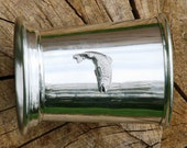 Julep Cup English Pewter Rainbow Trout Emblem Gift 378