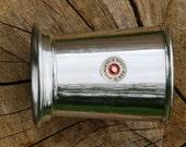 Julep Cup English Pewter Shotgun Cartridge Emblem Gift