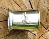 Julep Cup English Pewter Alsation Dog Emblem 002