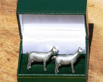Lamb KR Cufflinks /& Tie Slide Clip Mens Farming Gift Set UK Pewter