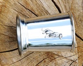 Julep Cup English Pewter Meerkat Emblem African Wildlife Gift 238