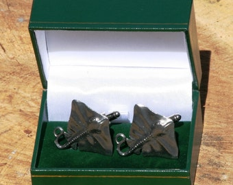 Stingray Cufflinks  Nautical Bat Ray  Gifts for Divers  Snorkeling  Gifts for Him