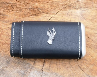 Digger Leather Covered Cigar Tube Case Cedar Lined Gift Boxed 101