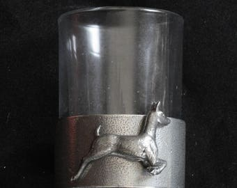 White Tail Deer 4 Stacking Stirrup Shot Cups in Leather Case NEW 394