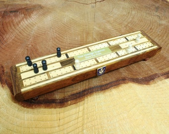 Queen Own Highlanders Wooden Cribbage Board Pub Gift With FREE ENGRAVING ME34