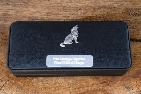 Wolf Case Box /& Pen Ball Point Nature Wildlife Gift FREE ENGRAVING 399