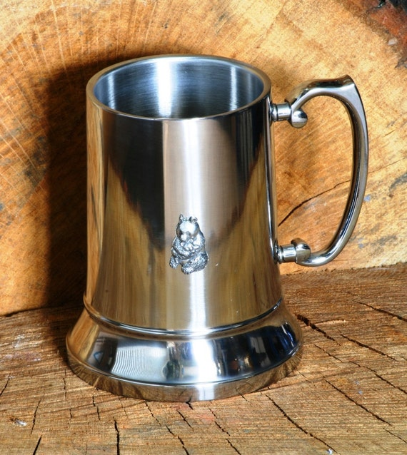 Panda Bear Tankard métal bière Ale pinte Mug cadeau