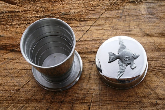 Angelfish 6oz Hip Flask Personalised Fish Gift Boxed FREE ENGRAVING 006