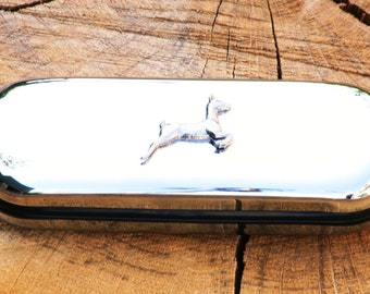 White Tailed Deer Spectacle Glasses Metal Case Personalised Gift