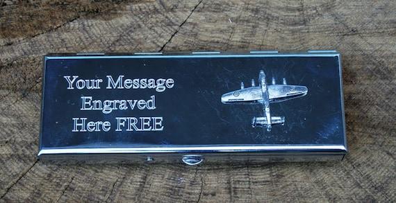 Lancaster Bomber Photo Album Silver FREE ENGRAVING 100 6x4 Pilot Gift