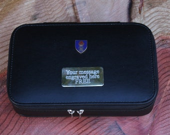 Royal Highland Fusiliers Travel Jewellery Cufflinks Box Storage FREE ENGRAVING Gift BGK24
