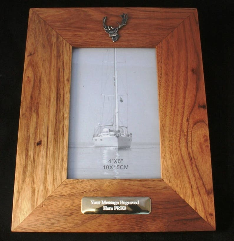 Fallow Head Wooden Photo Picture Frame Gift Landscape Or Portrait Hunting Gift 124