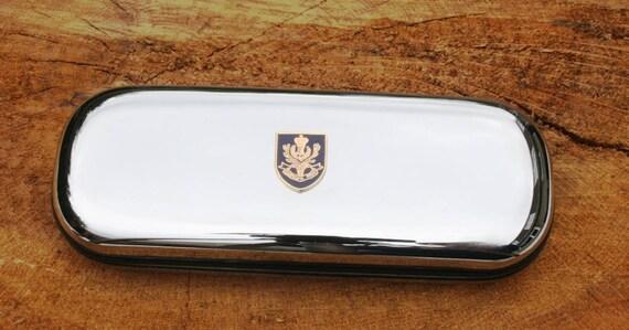 Queens Own Highlanders lunettes ou étui en métal stylo personnalisé gravé cadeau militaire ME34