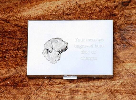 Labrador Tte Emblme Calculatrice Crdit Carte De Visite Tenir