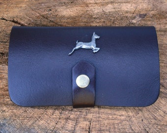White Tailed Deer Shotgun Choke Or Cartridge Brown Leather Case Deer Hunting Gift