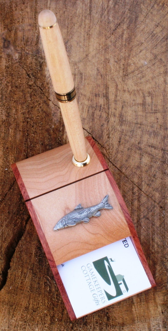 Barbel Fish Business Card Holder Tin Coarse Fishing Present