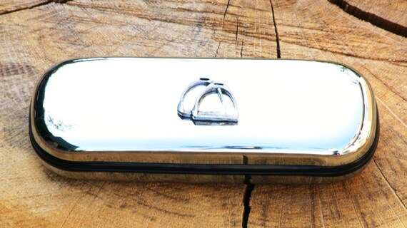 Lunettes de Spectacle cheval étriers métalliques affaire cadeau personnalisé