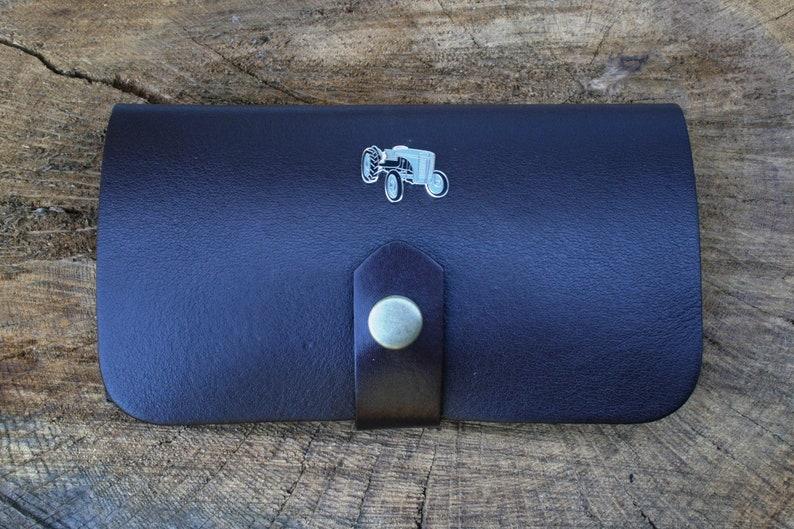 Grey Fergi Enamel Shotgun Choke Or Cartridge Brown Leather Case Farming Gift