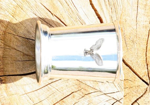 Julep Cup anglaise Owl en étain KR emblème oiseau la faune cadeau