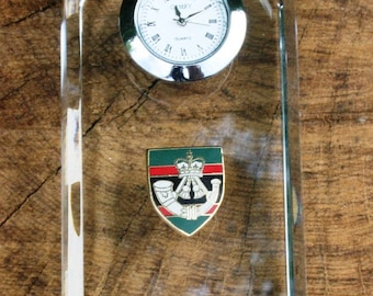 Rifles Design Glass Clock Bedside or Desk Top Military Gift Boxed ME54