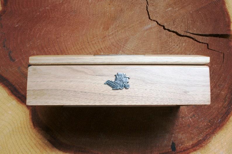 Combine Harvester Oak Jewellery Box Photo Insert 6x4 Personalised Engraving Ladies Gift 449