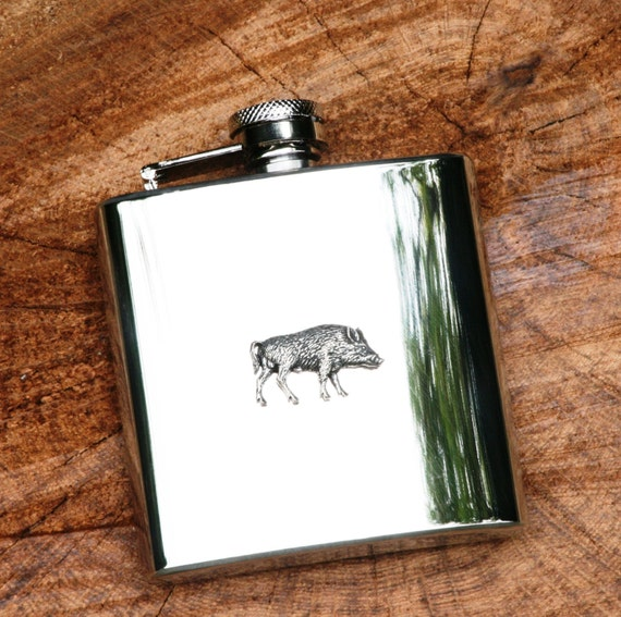 Wild Boar Head Leather Effect PU Glasses  Case Hunting shooting Gift Present