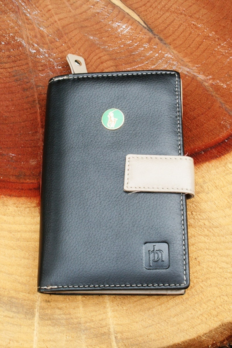 Polo Green Enamel Design Leather Purse with Zipped Compartments RFID Protected Ladies Gift 286