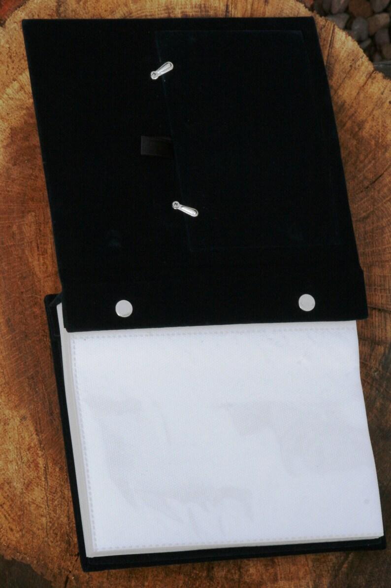 Scuba Divers Flipper  Design Silver Personalised Photo Album FREE ENGRAVING pewter emblem holds 100 6x4 photos 132