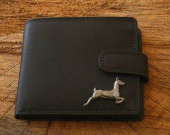 White Tailed Deer Leather Wallet Brown or Black Leather Hunting Gift