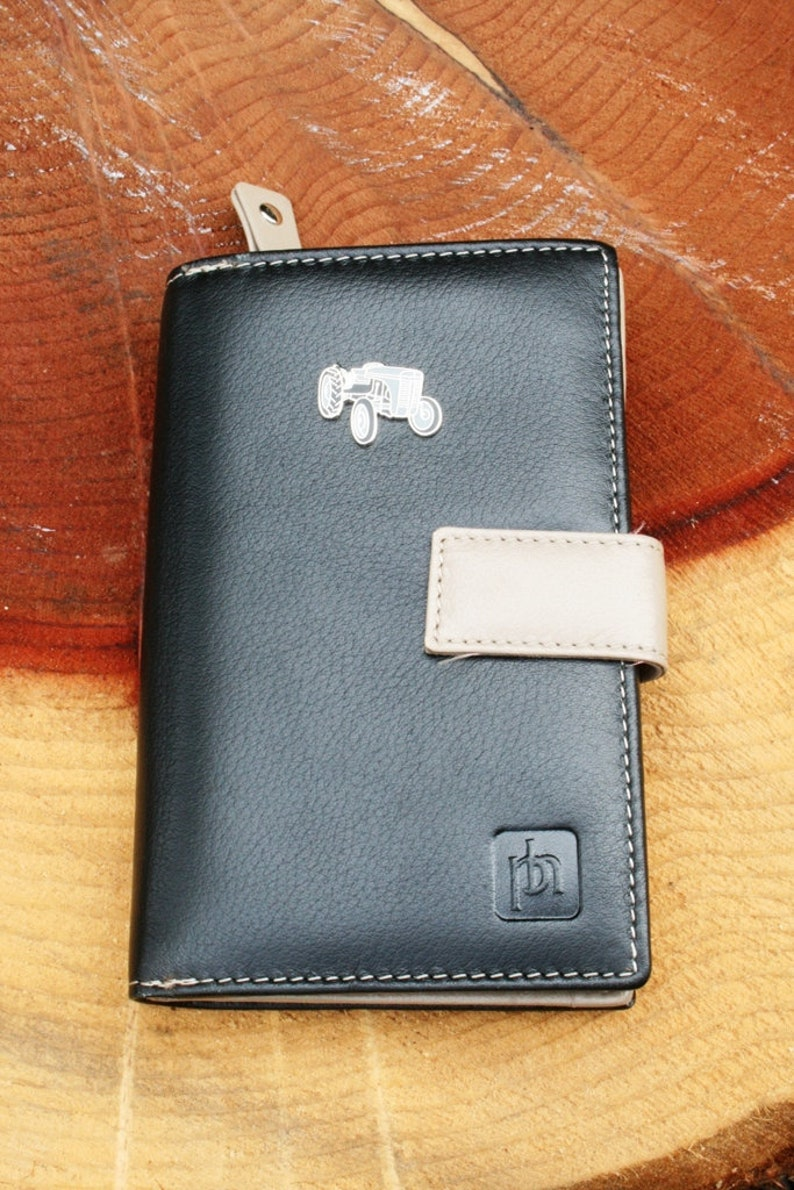 Grey Fergi Enamel Design Leather Purse with Zipped Compartments RFID Protected Ladies Gift 164