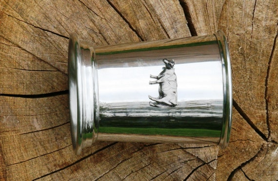 Julep Cup anglaise vache laitière en étain emblème cadeau