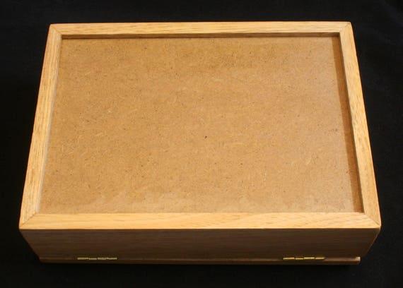 Stingray Oak Jewellery Box 6x4 Photo Insert Personalised Sea Life Gift 353