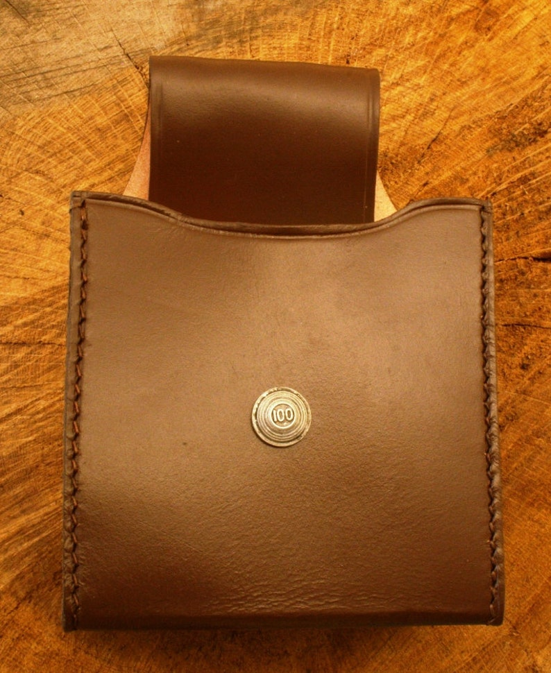 Clays 100 Cartridge Box Holder Brown Leather With Belt Loop Gift 75